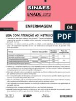 ENFERMAGEM ENADE 2013
