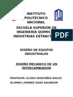 Diseño Mecanico INTERCAMBIADRO DE CALOR (1)