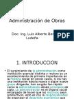 Administración de Obras