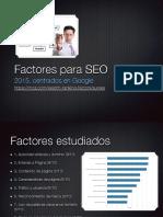 Factores Google SEO
