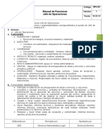 Manual de Funciones Jefe de Operaciones