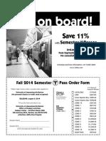 Fall 2014 MBTA Pass Application