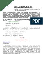 DECRETO LEGISLATIVO N° 052