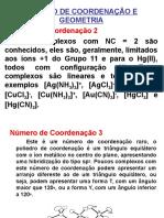 Geometria Dos Compostos de Coordenação