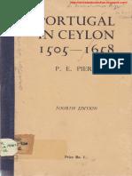 Portugal in Ceylon 1505 1658