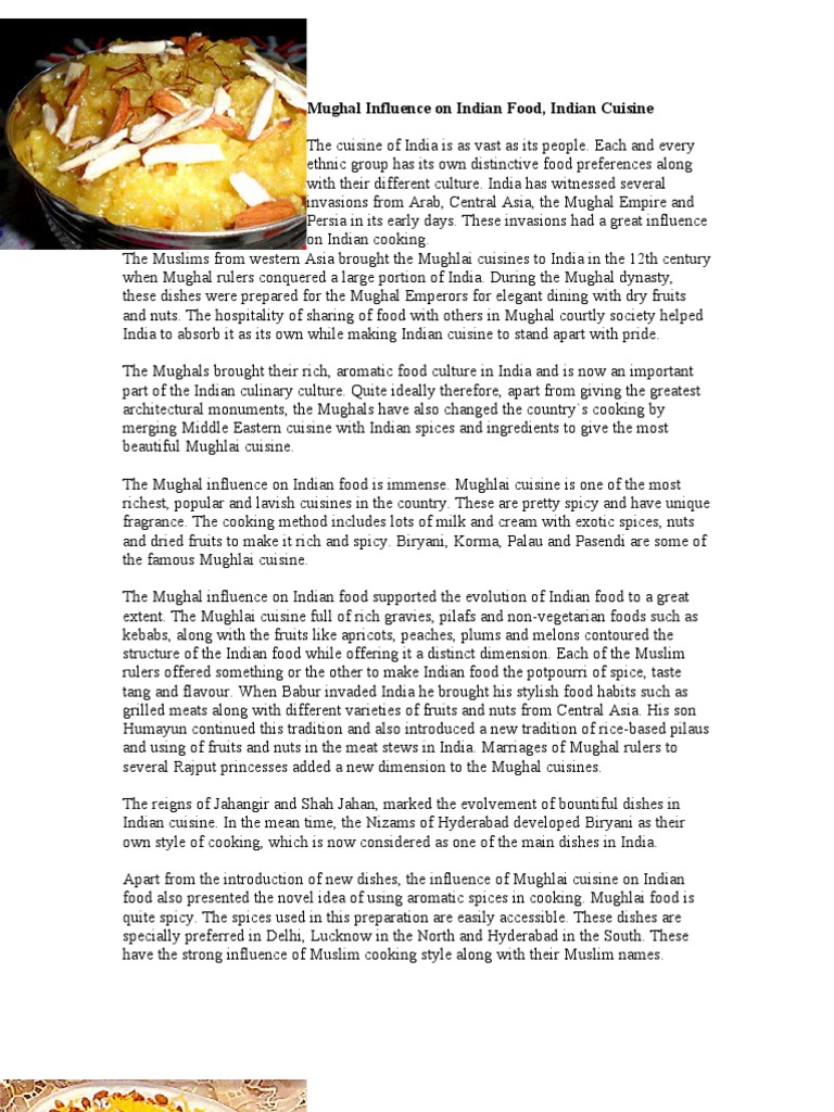 Mughal influence on indian food indian cuisine curry forumfinder Image collections