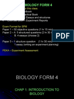CHAPTER 1 - Introduction to Biology F4