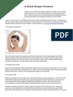 Tips Mencukur Bulu Ketiak Dengan Permanen