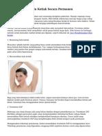 Tips Mencukur Bulu Ketiak Secara Permanen