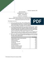 CA IPCC Accounts Mock Test Series 1 - Sept 2015