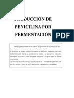 Produccion de Penicilina Por Fermentacion