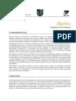 Álgebra Económicas Programa 2 2015