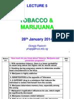 LECTURE 5 Tobacco&Marijuana