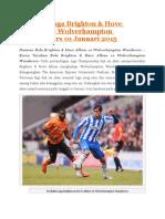 Prediksi Brighton & Hove Albion vs Wolverhampton Wanderers 1 Jan