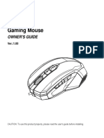 MSI Gaming Mouse User Manual