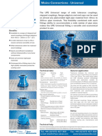 UPE Universal Couplings and Flange Adaptors