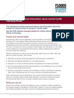Health Advice About Mental Health Following Floods