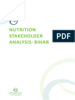 Bihar Nutrition Stakeholder Analysis