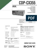 Sony CDP-CX355