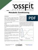 Conditionare metabolica