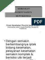 Kebijakan Pasien Safety