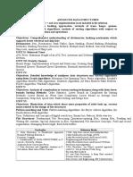 Advanced Data Structures Syllabus
