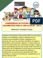 Compromisos de Gestion Escolar Para El 2016