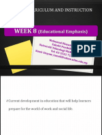 week 82  educational emphases  i