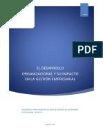 EL DESARROLLO ORGANIZACIONAL Y SU IMPACTO EN LA GESTIÓN EMPRESARIAL