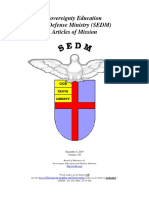 SEDM Articles of Mission, Form #01.004