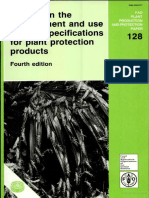 Manual on Development & Use of FAO Specifications for Plant Protection Products