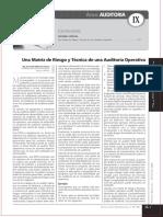 Una Matriz de Riesgo y Tecnica de Una Auditoria Operativa