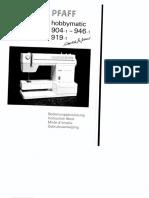 Pfaff 904-1-919 1 946 1 Hobbymatic Manual en de Fr Nl