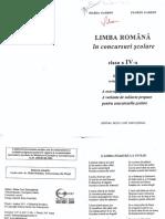 Limba Română - Cls - IV