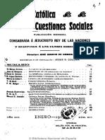 Revista Católica de Las Cuestiones Sociales. 1-1913