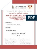Analisis de Factores Asociados Al Juego Patologicoii
