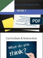 edu555 curriculum and instruction week 1