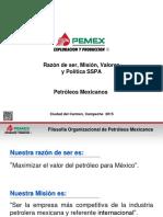 Mision_Valores y SSPA PEMEX_2015