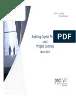 Capital Project Control
