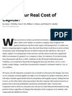 What's Your Real Cost of Capital