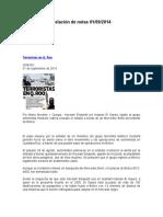 Relación de Notas 01-09-2014