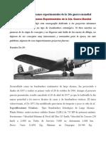 Bombarderos Alemanes Experimentales de La 2da Guerra Mundial