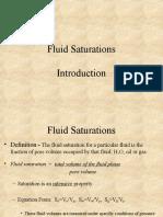 Fluid Saturation