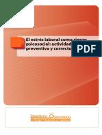 El Estrxs Laboral Como Riesgo Psicosocial Actividad Preventiva y Correctora