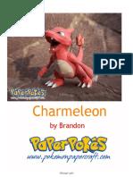 Papercraft Pokemon Charmeleon