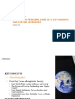 Beauty and Personal Care 2015 Key Insights and System Refresher