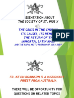 SSPX - Crisis in the Church