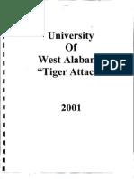 2001 University of West Alabama Offense