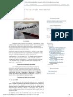 Derecho y Etica Para Ingenieros_ Unidad II Contrato de Obra (Primera Parte)