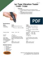 Vibration Pencil - TV200-260 Vibration Pen Data Sheet